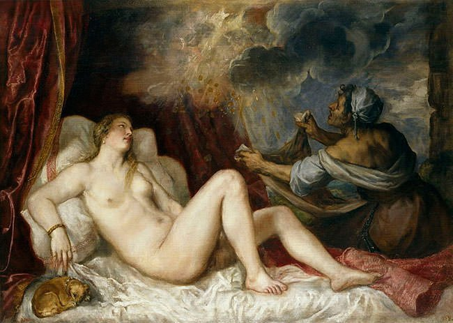 Danae with Nursemaid (1554) by Titian