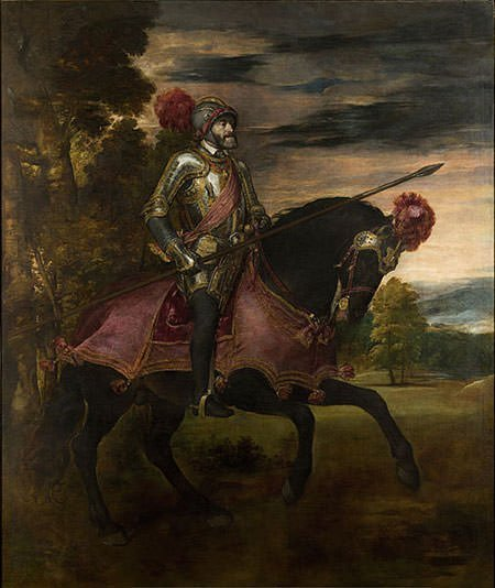 Equestrian Portrait of Charles V (1548) by Titian