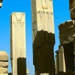 Heraldic Pillars at the temple of Amun at Karnak