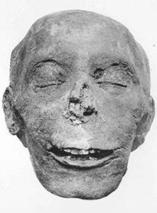 Mummified head of Thutmose III