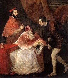 Pope Paul III with his Grandsons (1546) by Titian