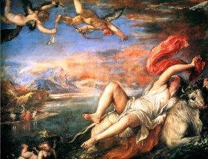 Rape of Europa (1562) by Titian