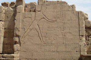Battle of Megiddo Relief in Karnak Temple