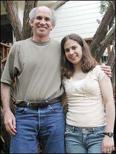 Louis Sachar and his daughter Sherre