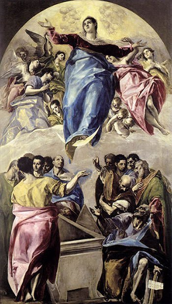 Assumption of the Virgin (1579) - El Greco
