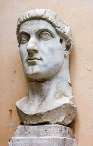 Constantine the Great colossal head in Rome