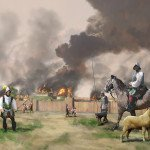 De Soto and his men burning Mabila