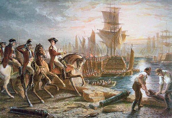 British evacuation of Boston in March 1776