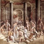 The Baptism of Constantine painting