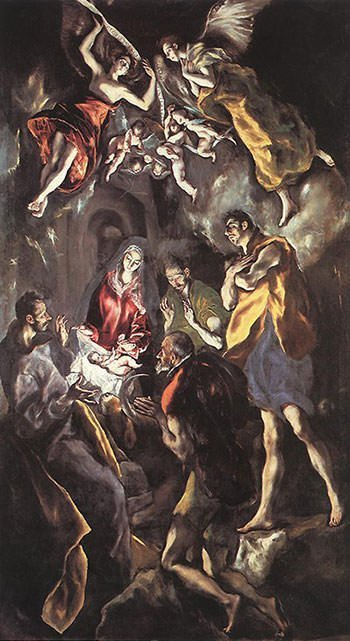 The Adoration of the Shepherds (1614) - El Greco