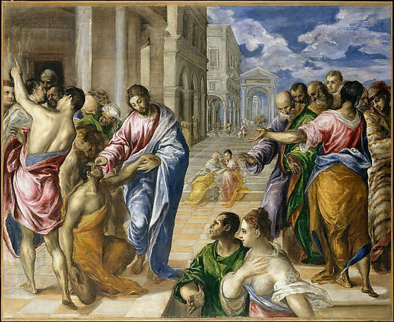 The Miracle of Christ Healing the Blind (1570) - El Greco