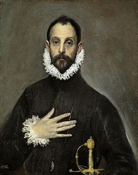 The Nobleman with his Hand on his Chest (1580) - El Greco