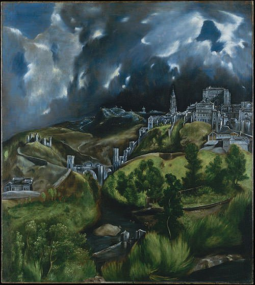 View of Toledo (1600) - El Greco