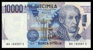 Alessandro Volta Italian Lire