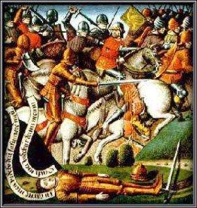Battle of Roncevaux Pass depiction