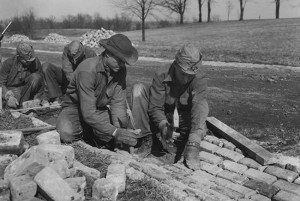 Civilian Conservation Corps workers in 1933