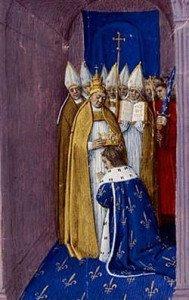 Coronation of Pepin the Short depiction