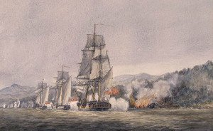 1776 Battle of Valcour Island depiction