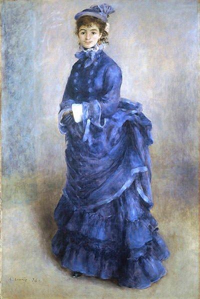 The Blue Lady (1874) - Pierre-Auguste Renoir