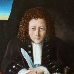 Portrait of Robert Hooke by Rita Greer