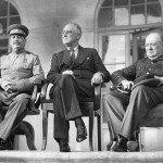 Joseph Stalin, Franklin D. Roosevelt and Winston Churchill