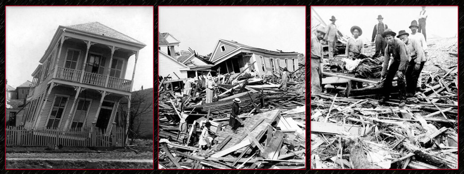 the great galveston hurricane The deadliest natural disaster in american history remains the 1900 hurricane in the island city of galveston, texas on september 8, a category four hurricane descended on the town, destroying.
