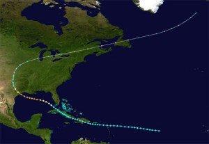 1900 Galveston Storm Map