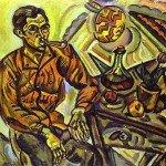 Portrait of Vincent Nubiola (1917) - Joan Miro
