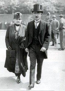 Rudyard Kipling with his wife Caroline