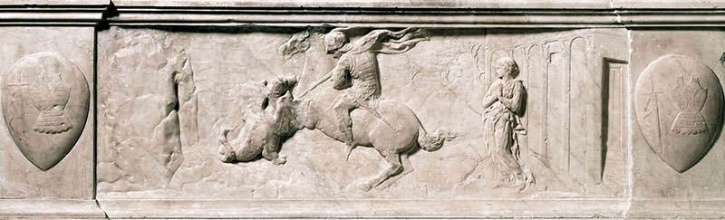 St George Killing the Dragon (1417) - Donatello