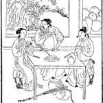 Ming dynasty woodblock print