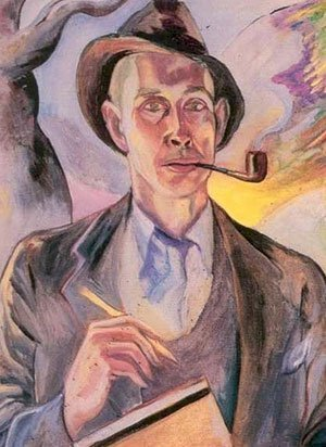 E. E. Cummings self-portrait
