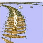 Xerxes's bridge across Hellespont