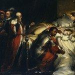 Othello weeping over Desdemona's body