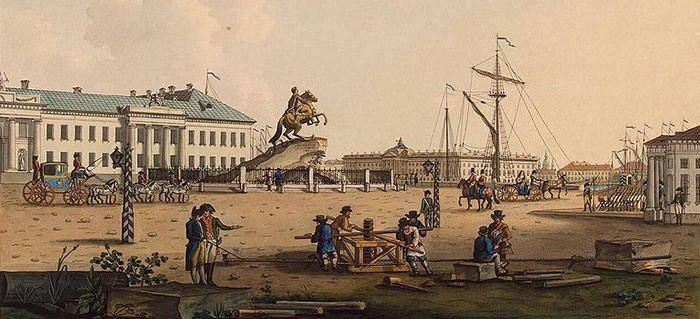 Painting of Senate Square in Saint Petersburg