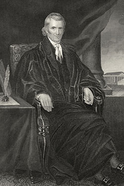 Steel engraving of John Marshall