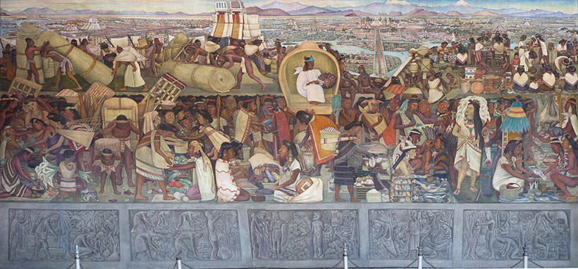 10 most famous works by diego rivera learnodo newtonic for Diego rivera aztec mural