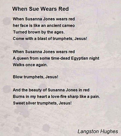 When Sue Wears Red