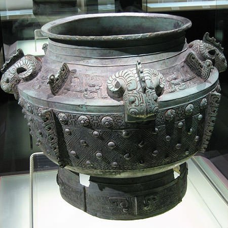 Shang dynasty bronze vessel