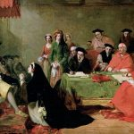 Painting of Catherine pleading her case against divorce from Henry