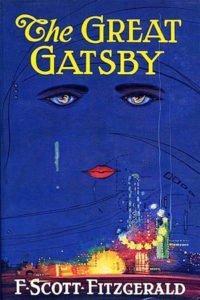 The Great Gatsby book cover of the first edition