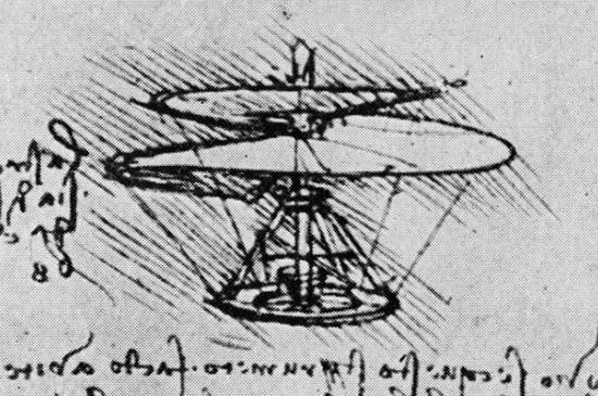 Leonardo Da Vinci's Helicopter design