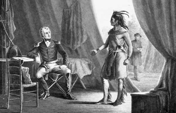 Battle of Horseshoe Bend surrender depiction