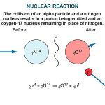 Diagramatic representation of the induced nuclear reaction