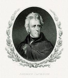 Presidential portrait of Andrew Jackson