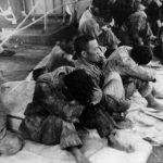 Japanese prisoners of war after the Battle of Midway