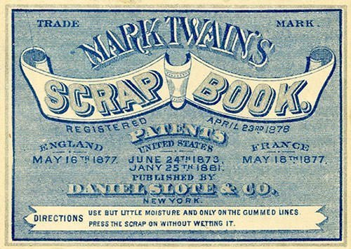 Mark Twain Scrapbook Label