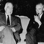Niels Bohr with J. Robert Oppenheimer