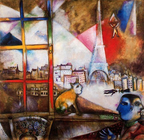 Bella with White Collar (1917) - Marc Chagall