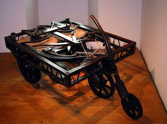 Model of Leonardo's self-propelled cart